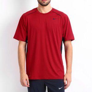 NIKE Dri Fit Red Short sleeve athletic shirt tee
